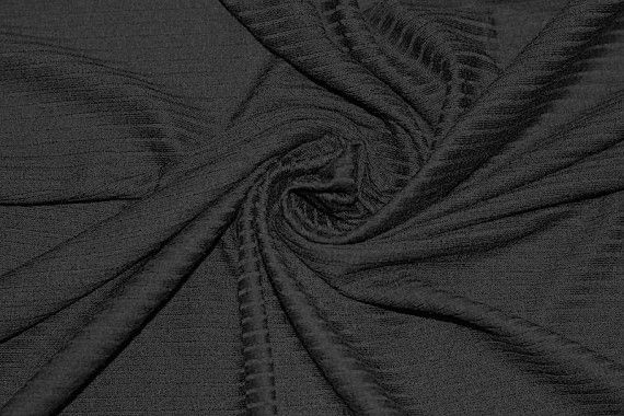 Tissu Jersey Bord Côte Noir -Au Mètre