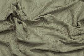 Tissu Jersey Bord Côte Kaki -Au Mètre