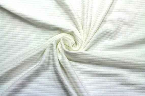 Tissu Jersey Bord Côte Ecru -Au Mètre