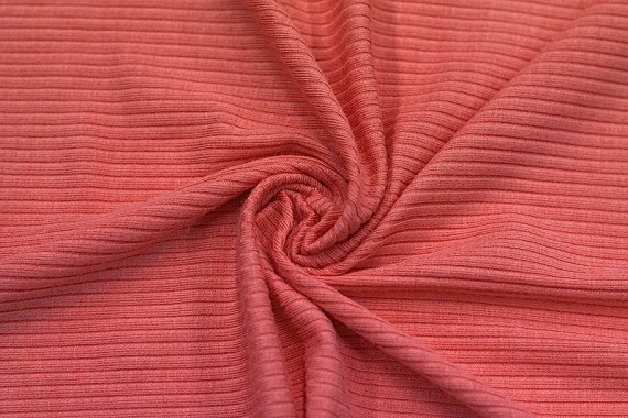 Tissu Jersey Bord Côte Corail -Au Mètre