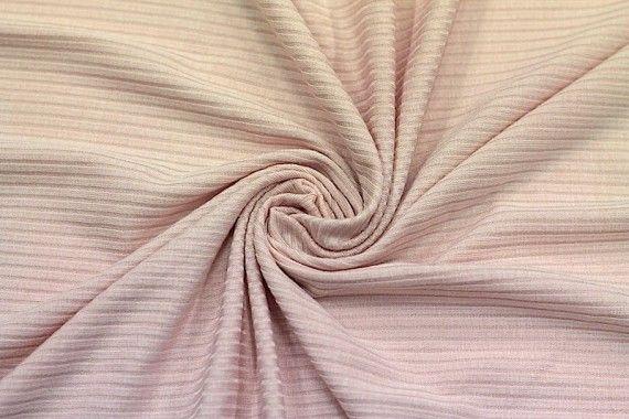 Tissu Jersey Bord Côte Nude -Au Mètre