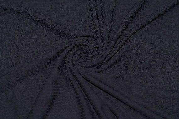 Tissu Jersey Bord Côte Marine -Au Mètre