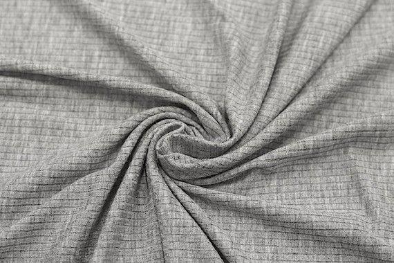 Tissu Jersey Bord Côte Gris -Coupon de 3 mètres