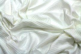 Tissu Jersey Bord Côte Ecru -Coupon de 3 mètres