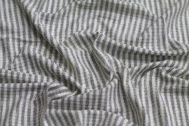Tissu Jersey Bord Côte Picadilly Gris/Ecru -Au Mètre