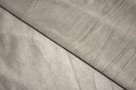 Tissu Suédine Maille Légère Mastic Coupon de 3 mètres