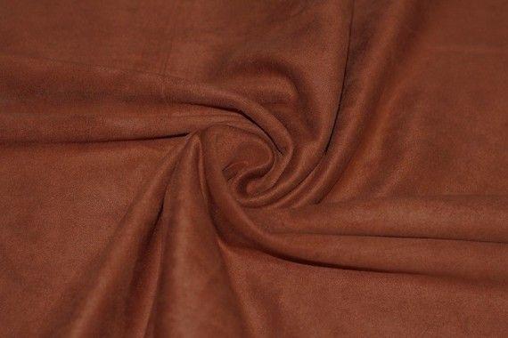 Tissu Suédine Maille Lourde Brique Coupon de 3 mètres