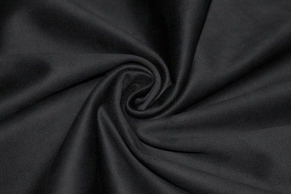 Tissu Suédine Maille Lourde Noire Coupon de 3 mètres