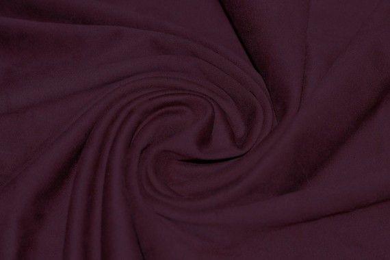 Tissu Suédine Maille Lourde Bordeaux Coupon de 3 mètres