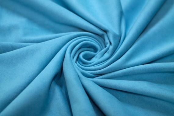 Tissu Suédine Maille Lourde Turquoise Coupon de 3 mètres
