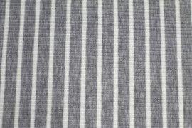 Tissu Jersey Bord Côte Lena Gris/Ecru -Au Mètre