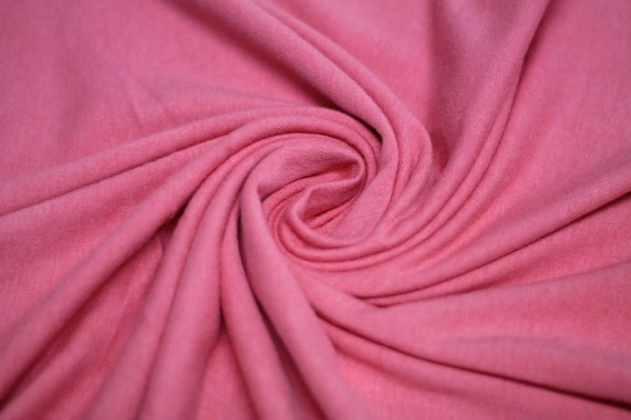 Tissu Jersey Coton Corail -Au Mètre