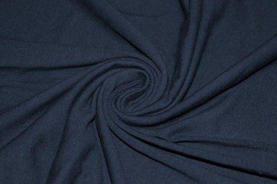 Tissu Jersey Coton Marine -Au Mètre