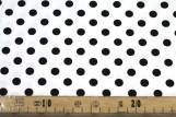 Tissu Satin de Coton Gros Pois Noir/Blanc -Au Mètre