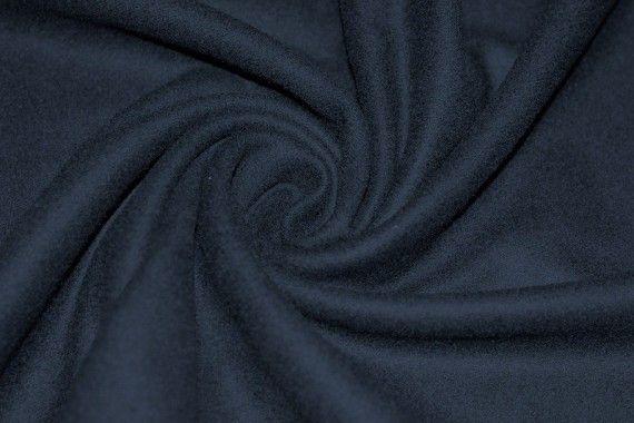 Tissu Drap de Laine Marine -Au Mètre