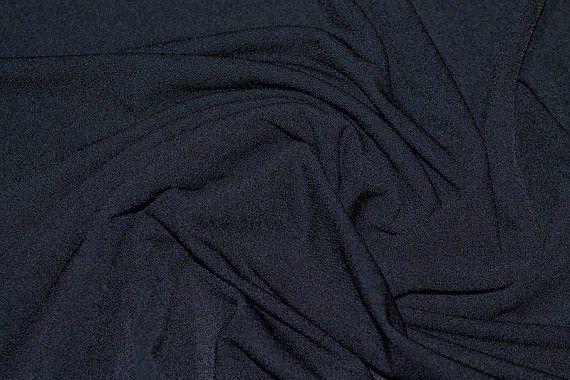 Tissu Crêpe Crézia Maille Marine -Au mètre