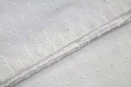 Tissu Voile à Pois Uni Blanc -Au Mètre