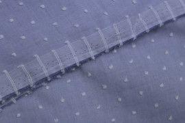 Tissu Voile à Pois Uni Jean -Coupon de 3 mètres