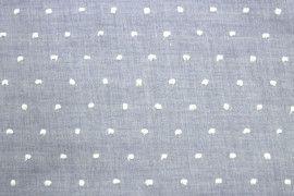 Tissu Voile à Pois Uni Bleu Ciel -Coupon de 3 mètres