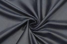 Tissu Suédine Laquée Serpent Marine -Au Mètre