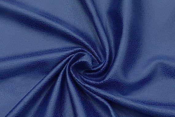 Tissu Suédine Laquée Serpent Bleu Roi -Au Mètre
