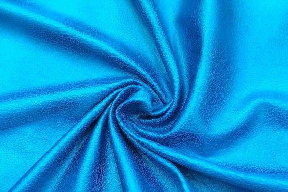 Tissu Suédine Laquée Serpent Turquoise -Au Mètre