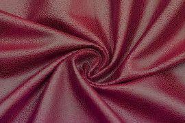 Tissu Suedine Laquee Serpent Rouge -Au Metre