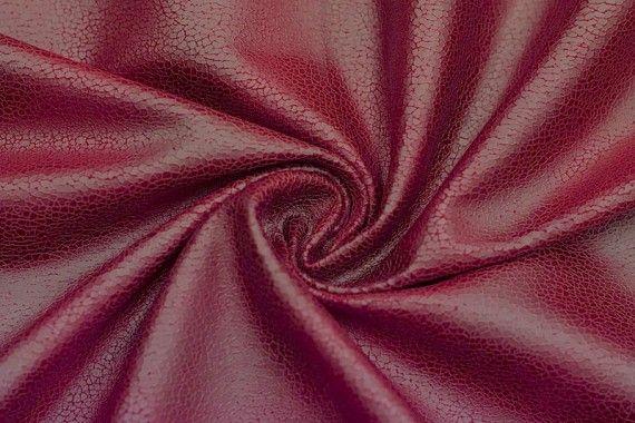 Tissu Suédine Laquée Serpent Rouge -Au Mètre