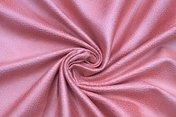 Tissu Suédine Laquée Serpent Corail -Au Mètre
