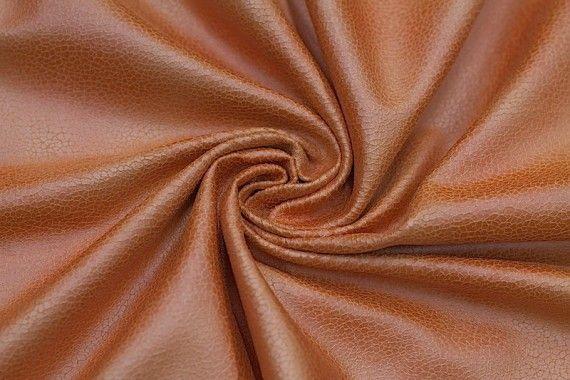 Tissu Suédine Laquée Serpent Orange -Au Mètre
