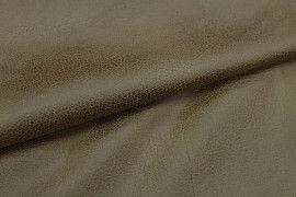 Tissu Suédine Laquée Serpent Camel -Au Mètre
