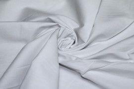 Tissu Popeline Unie Blanche de Qualité, Coupon 3 mètres