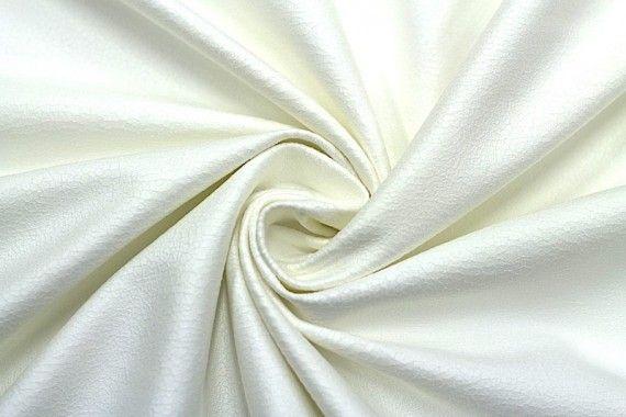 Tissu Suédine Laquée Serpent Blanc Cassé -Au Mètre