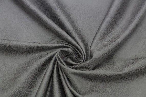 Tissu Suédine Laquée Serpent Gris Foncé -Coupon de 3 mètres
