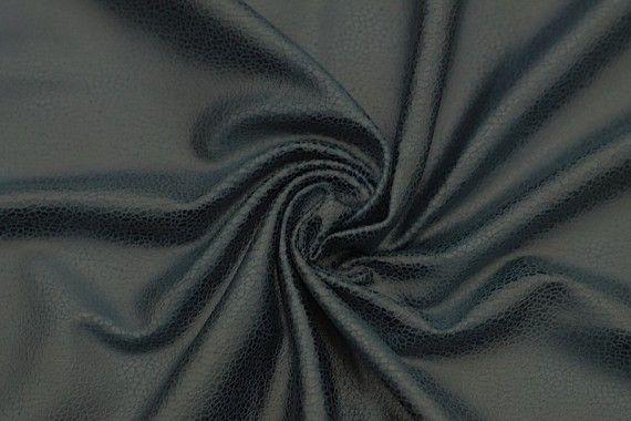 Tissu Suédine Laquée Serpent Bleu Canard -Coupon de 3 mètres