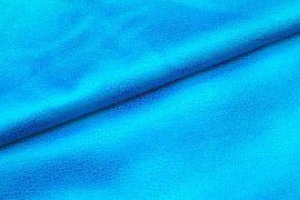 Tissu Suédine Laquée Serpent Turquoise -Coupon de 3 mètres