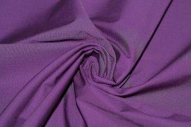 Tissu Popeline Unie Violet de Qualité, Coupon 3 mètres