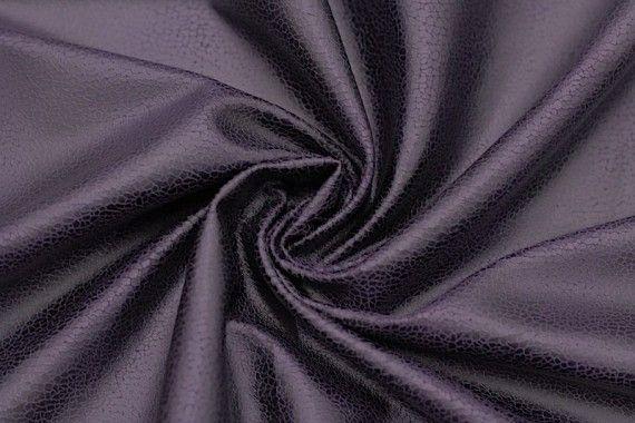 Tissu Suédine Laquée Serpent Violet -Coupon de 3 mètres