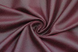 Tissu Suédine Laquée Serpent Bordeaux -Coupon de 3 mètres