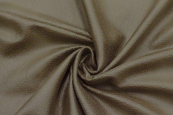 Tissu Suédine Laquée Serpent Camel -Coupon de 3 mètres