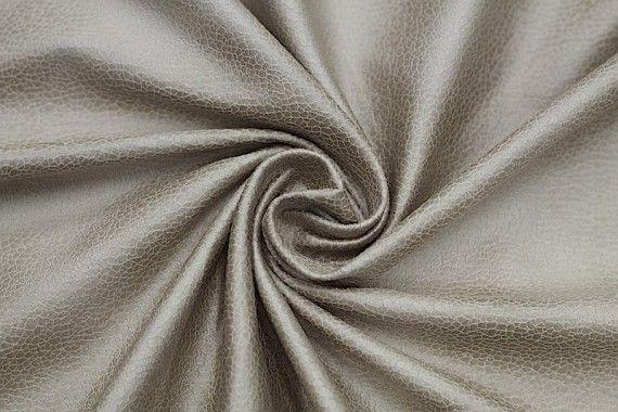 Tissu Suédine Laquée Serpent Beige -Coupon de 3 mètres