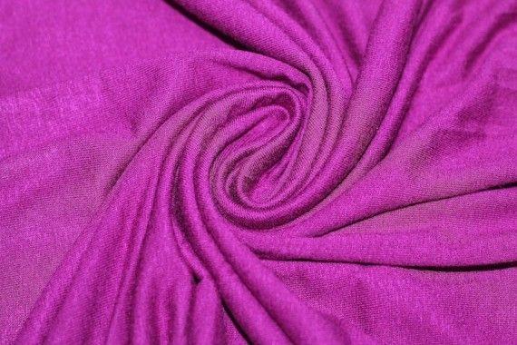 Tissu Jersey Viscose Cyclamen -Au Mètre