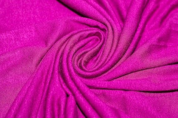 Tissu Jersey Viscose Fuchsia -Au Mètre
