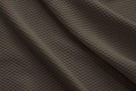 Tissu Nid d'abeille Taupe -Coupon de 3 mètres