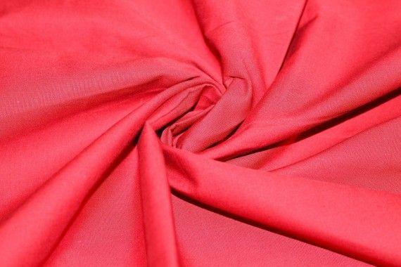 Popeline Unie 100% Coton Rouge