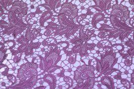 Tissu Guipure Violet -Au Metre