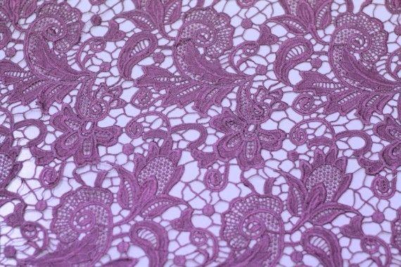 Tissu Guipure Violet -Au Mètre