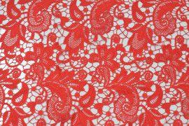 Tissu Guipure Rouge -Au Mètre