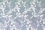 Tissu Guipure Bleu Ciel -Au Mètre