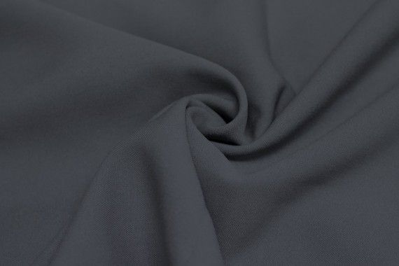 Tissu Burlington infroissable Uni Gris Foncé -Au Mètre